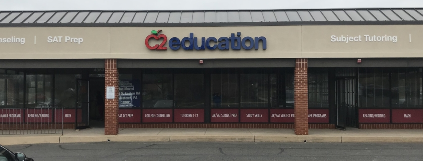 Contact C2 Education of Doylestown for personalized test prep, tutoring, and college admissions counseling.