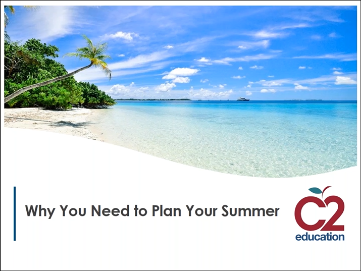 screen from webinar about planning your summer academically