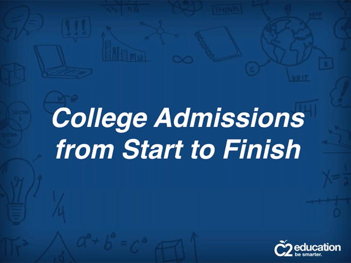 webinar about college admissions