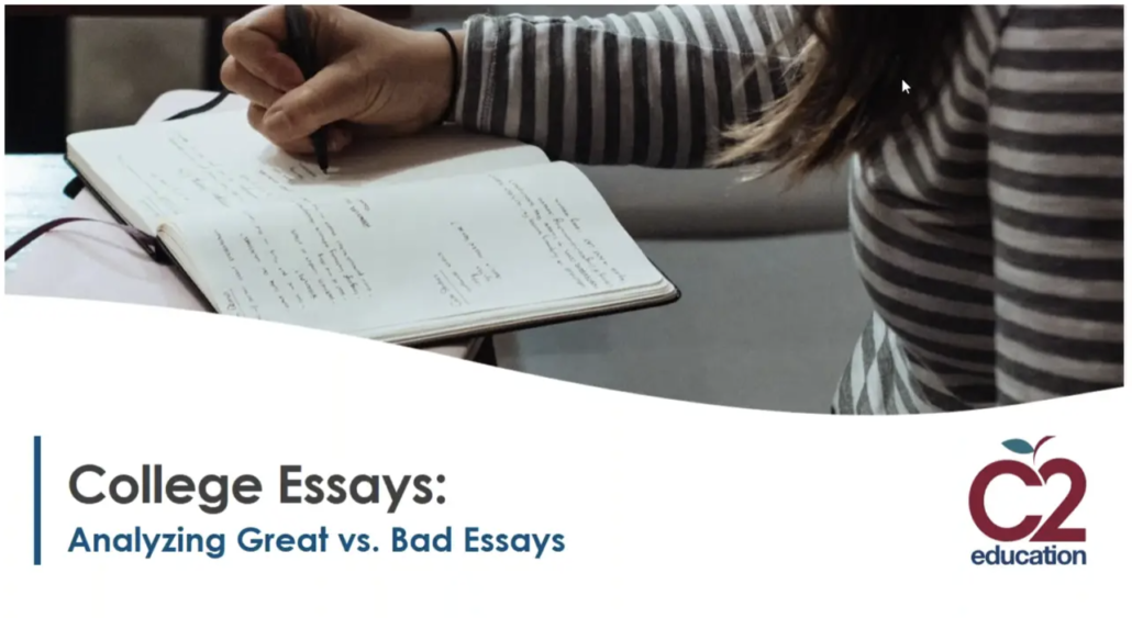 thumbnail of webinar about analyzing college essays