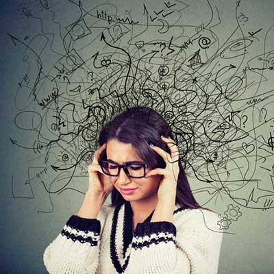 student experiencing brain drain and forgetting what she learned