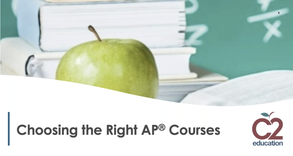 webinar screenshot about choosing the right ap classes