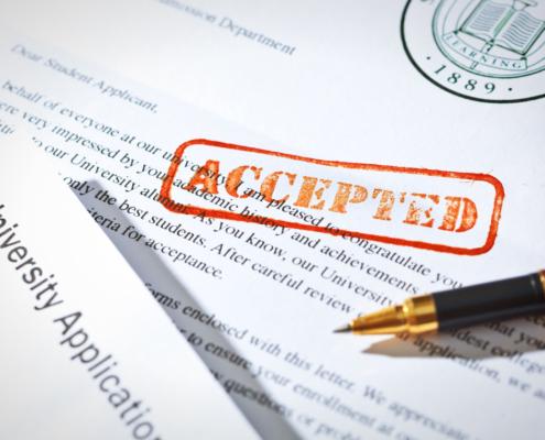 rolling admission acceptance letter