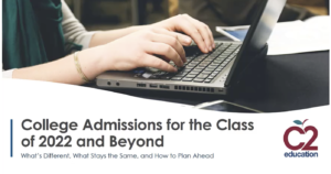 webinar screenshot about college admissions for the class of 2020 and beyond