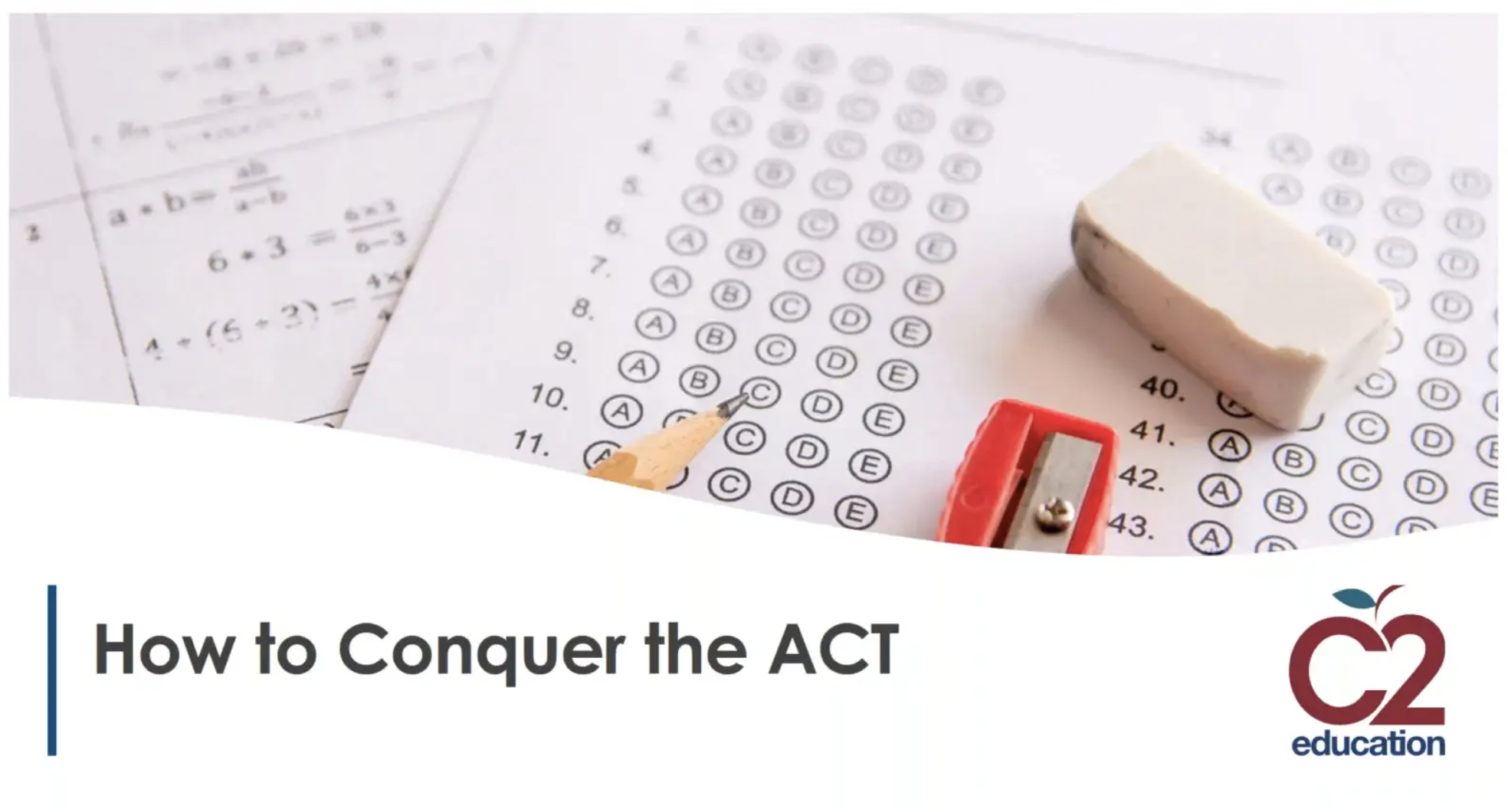 webinar slide about conquering the act testw