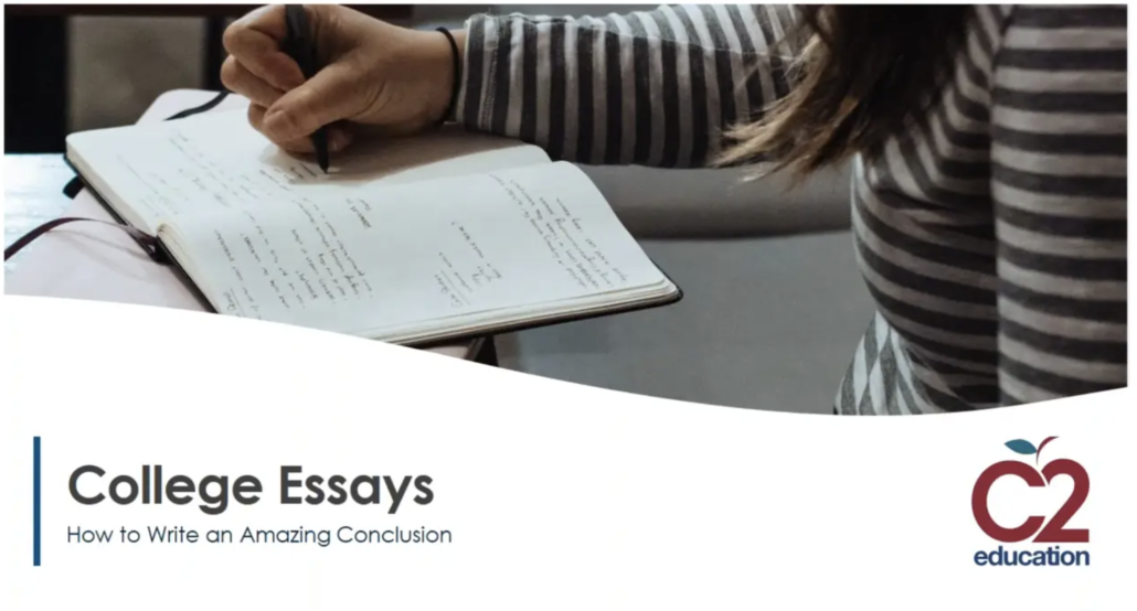webinar graphic on how to write a college essay conclusion