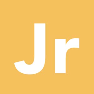 letters Jr on yellow background