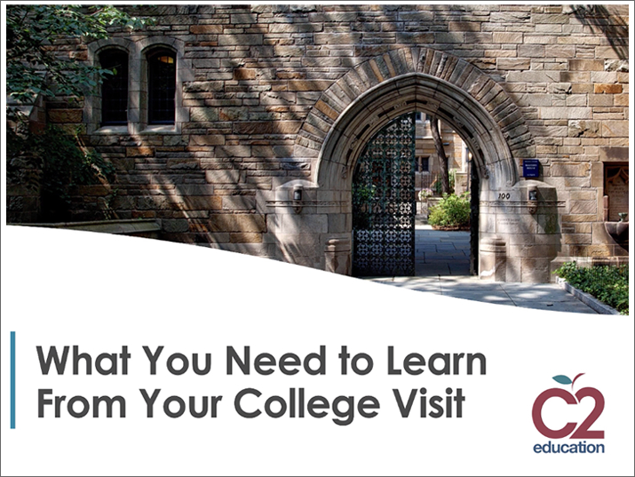 webinar slide for things to learn on your college visit