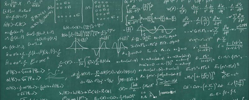 hard math equations on a chalkboard