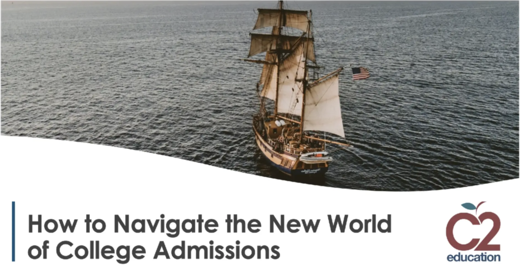 graphic for webinar on how to navigate the college admissions process