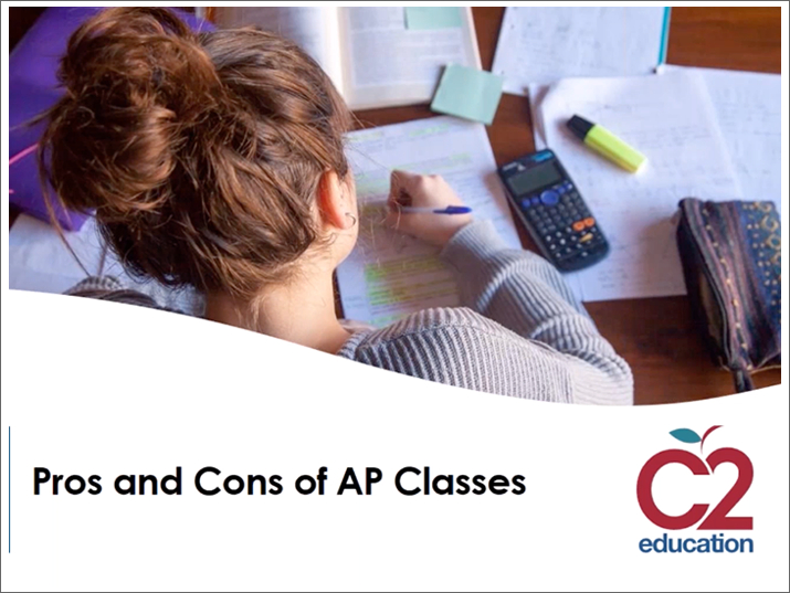 title slide for pros and cons of ap classes webinar