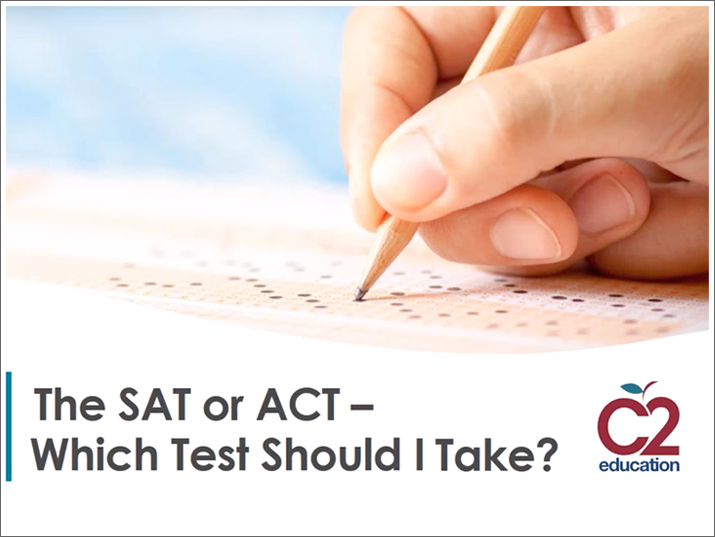 webinar screen that asks sat or act which test should i take