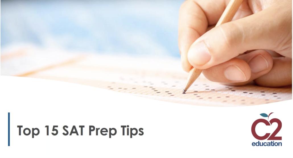 webinar screen for top sat prep tips