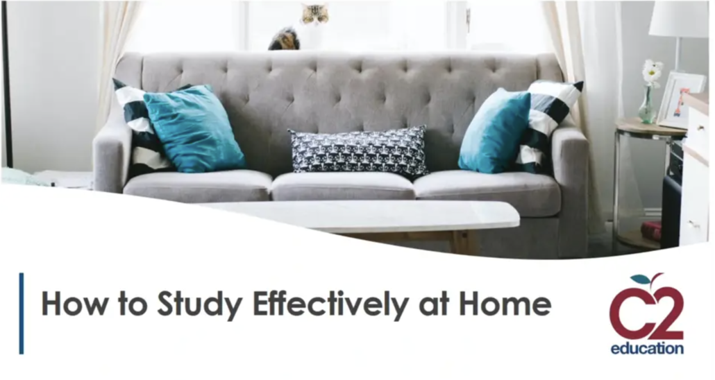 graphic for webinar on studying effectively at home