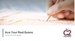 webinar graphic for final exam study strategies