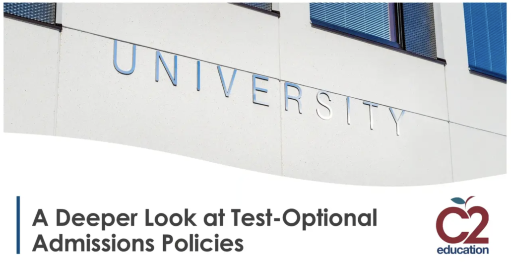 opening screen of webinar on test-optional admissions policies